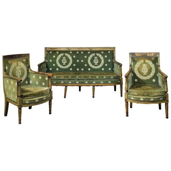 French 19th Century Empire Three-Piece Seating Group
