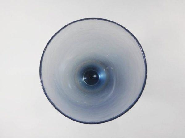 Mid-Century Paolo Venini Blue and Brown Inciso Murano Glass Vase, 1950s