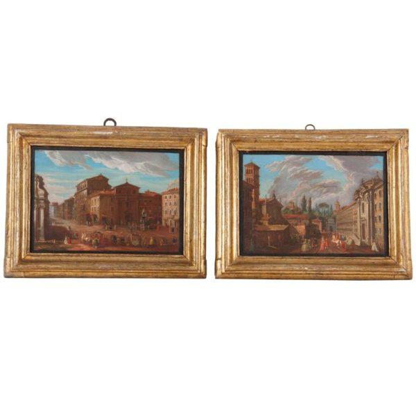 Pair of Italian 18th Century Roman Views