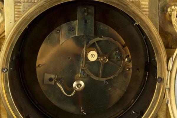French Louis XVI Ormolu Mounted Mantel Clock, Leroy