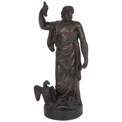 An 18th Century Figural Bronze Sculpture of Zeus