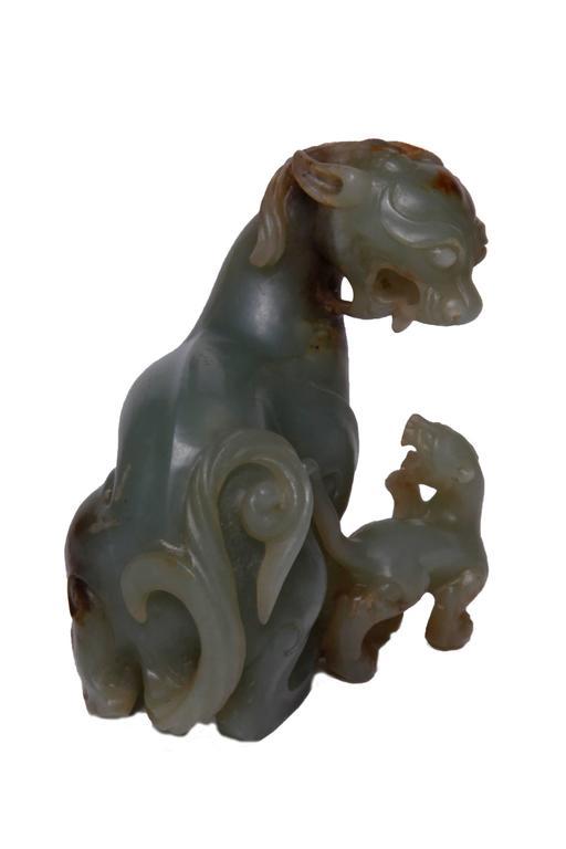 Jade Carving of Mythological Beast