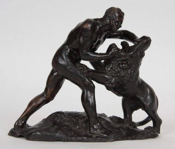 Bronze Group of Hercules and the Nemean Lion