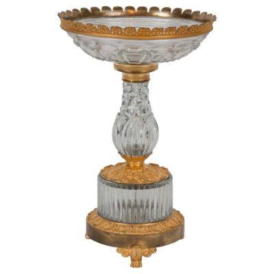 Early 19th Century Gilt Bronze Cut-Glass Centerpiece