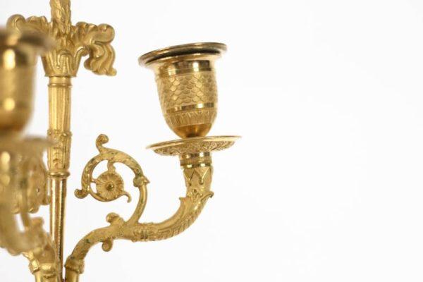 Early 19th Century Empire Figural Gilt Bronze Candelabra