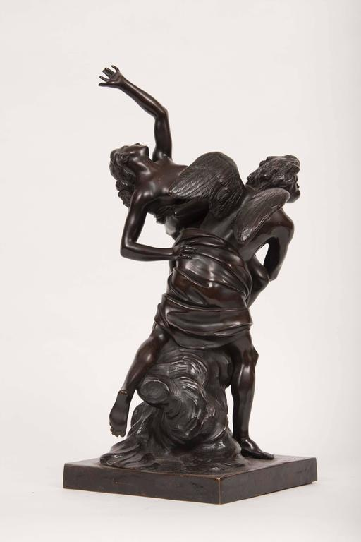 French Bronze Figural Group of Boreas and Oreithyia