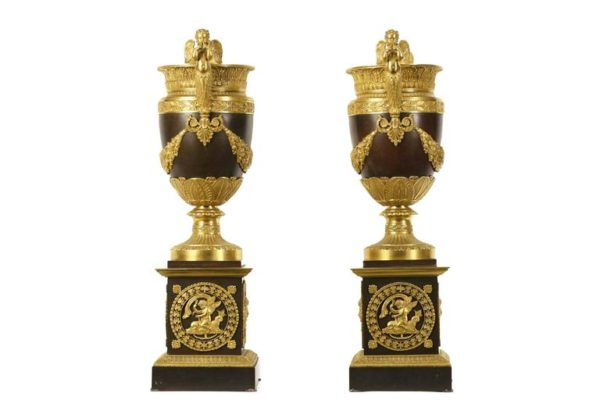 Pair of French Empire Vases, Attributed to Pierre-Philippe Thomire