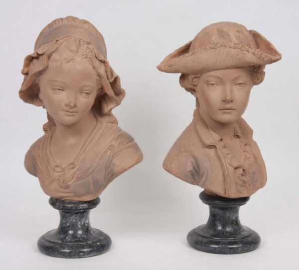 Pair of 19th Century French Terracotta Busts
