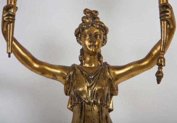 Pair of 19th Century Gilt Bronze Sconces