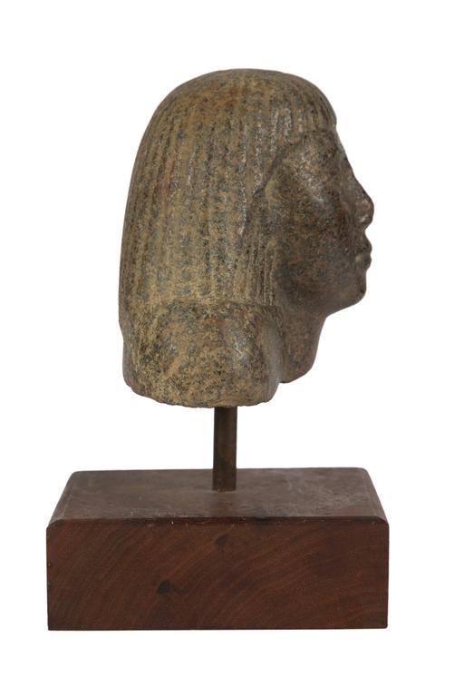 Egyptian Granite Head of a Man
