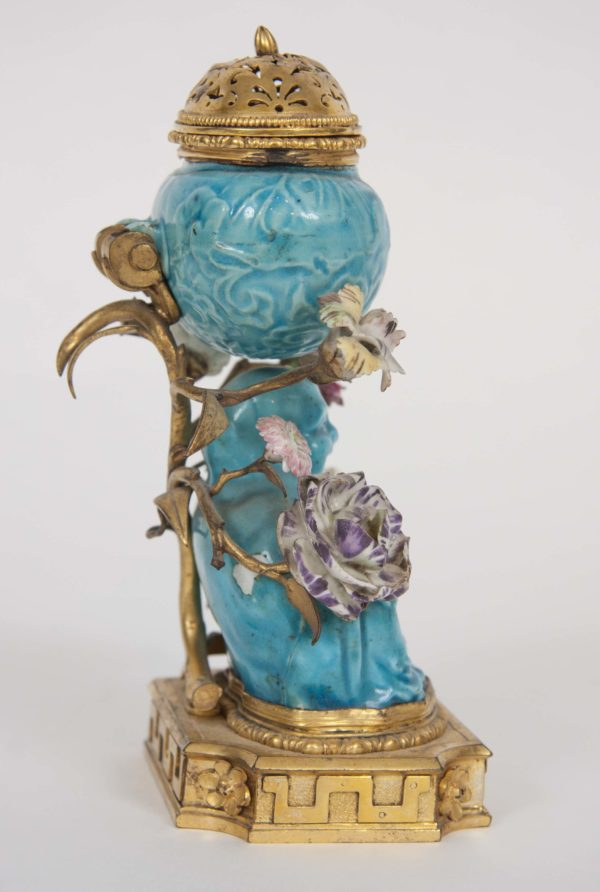 Chinese Gilt Bronze Ormolu Mounted Porcelain Pot-Pourri Vase