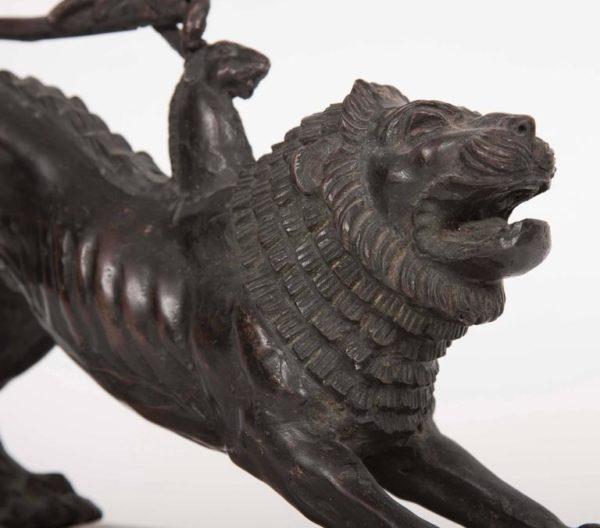 Italian Patinated Bronze Model of the Chimera of Arezzo