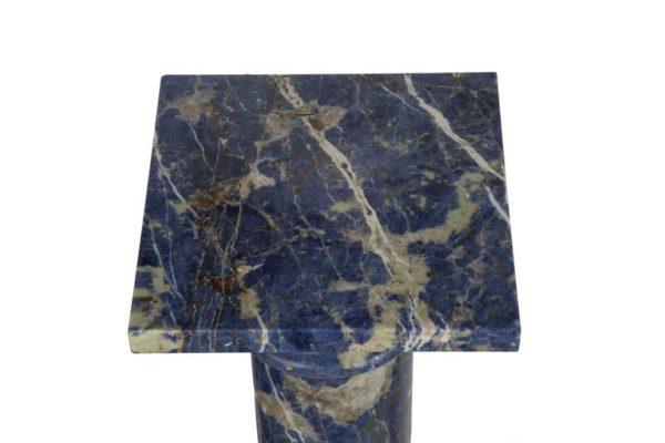 Pair of Lapis Lazuli Marble Pedestal Columns