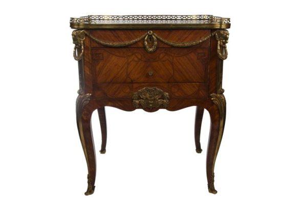 French Gilt-Bronze Mounted Mahogany Kingwood and Tulipwood Table Ecrire