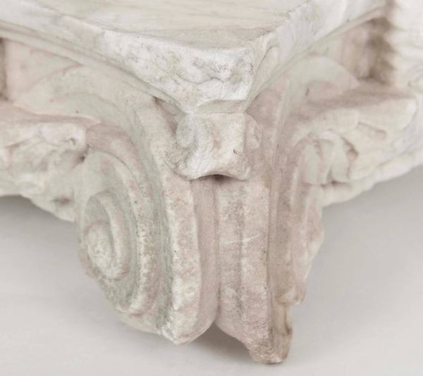Pair of Italian White Marble Capital Fragments