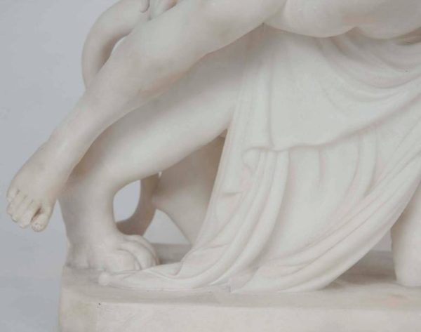 Marble Sculpture of Ariadne Seated on a Panther