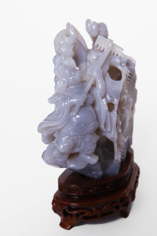 Chinese Agate Carved Grouping