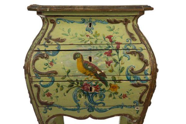 Venetian 18th Century Lacca Povera Louis XV Side Table