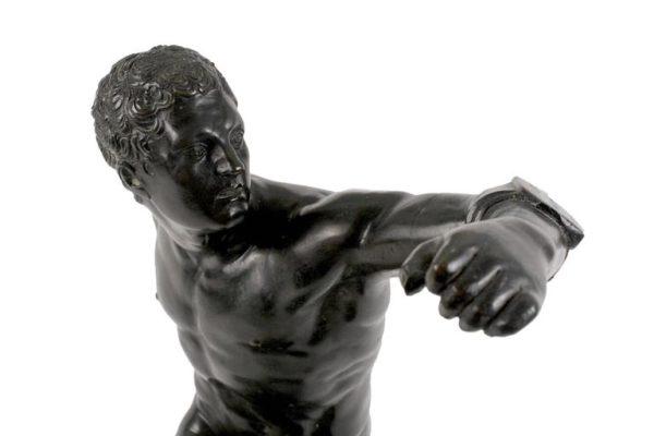 19th Century Large Bronze Sculpture of Ancient Greek Athlete