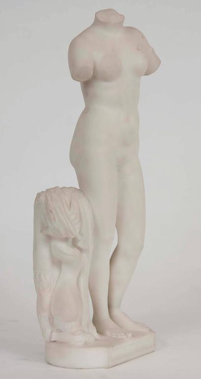 White Marble Torso of Aphrodite