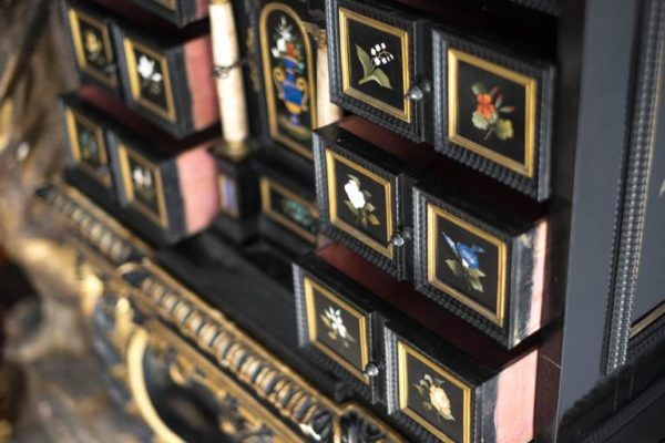 19th Century Pietra Dura Florentine Cabinet